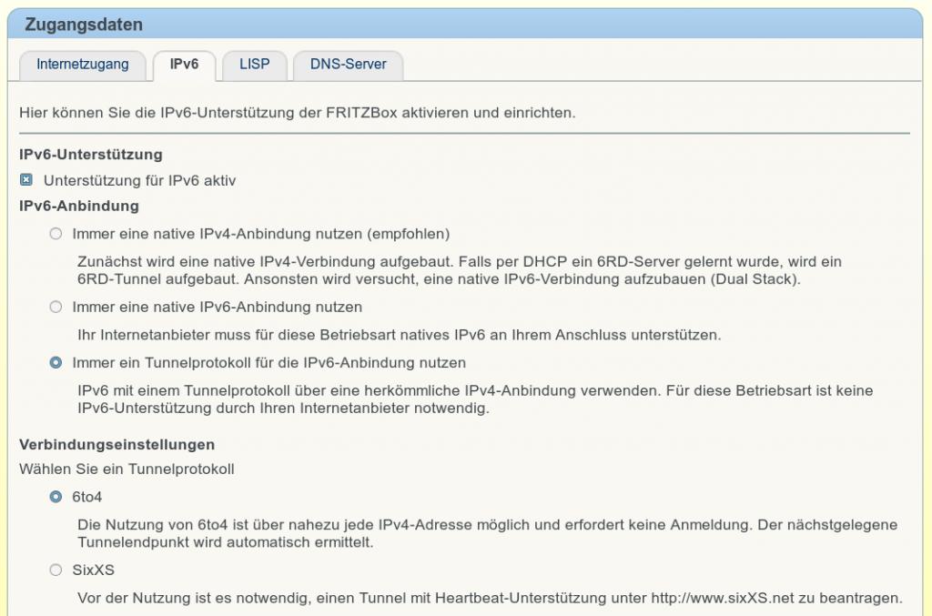 Im Reiter IPv6 sind die angaben entsprechend vorzunehmen . Vorgabe für die Meisten DSL Provider sind hier zu sehen. Im zweifel den Provider fragen.