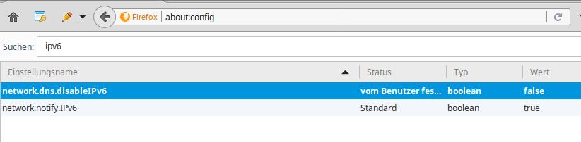 IPV6 im Browser aktivieren