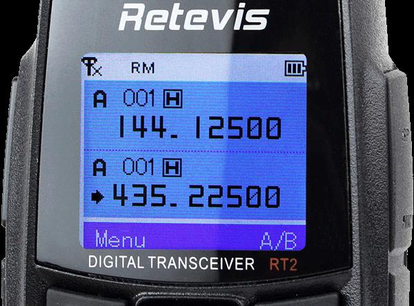 "Retevis RT2 display ""mirror-reversed"" solution:"