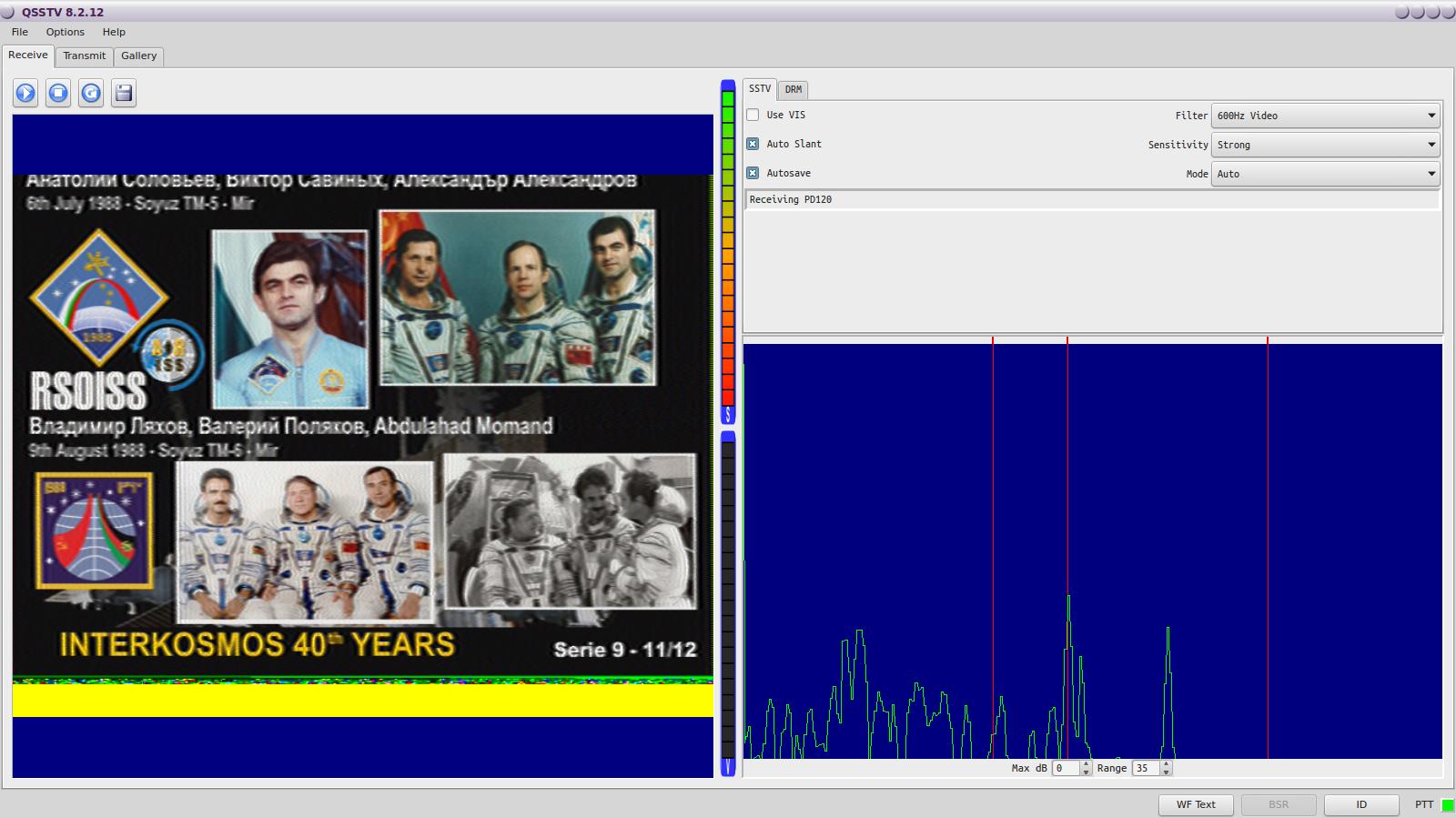 ISS Bildempfang mit QSSTV