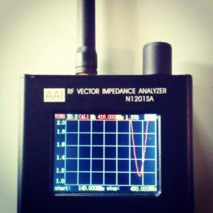 RF Vector Impedanz Analyser mit der Jumbo Antenne für VHF und UHF