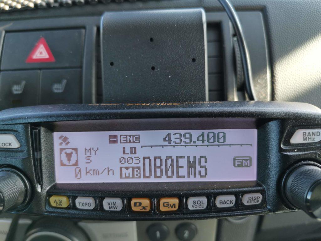FTM100 Display auf einer Brodit ProClip 853261 Montagekonsole