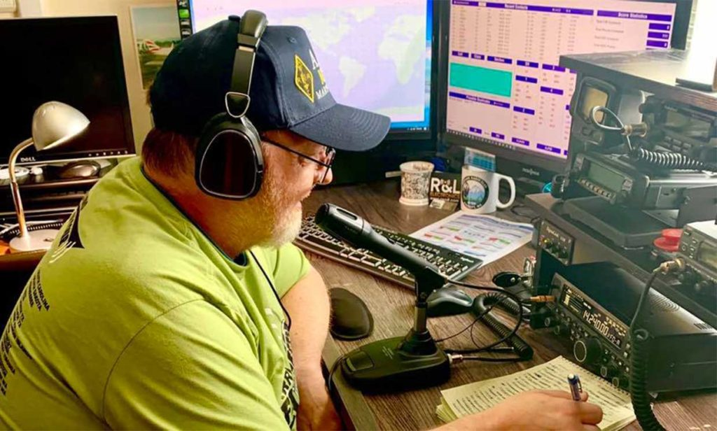 Photo: John Anderson John Anderson (AJ7M), from Marysville, Washington on the air from home for the 2020 ARRL Field Day event, held June 27-28. Field Day is ham radio's largest on-air annual event and demonstration.