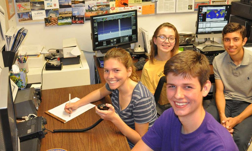 Photo: Ronny Risinger (KC5EES) Members from the LASA High School Amateur Radio Club, K5LBJ, in Austin, Texas participated in School Club Roundup, a twice-yearly on-air event that encourages participation from ham radio school groups.