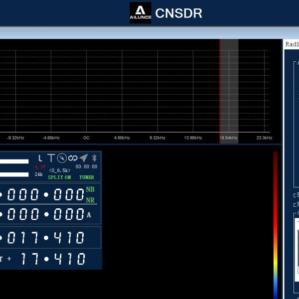 Ailunce CNSDR Software für den HS2 SDR Sendeempfänger
